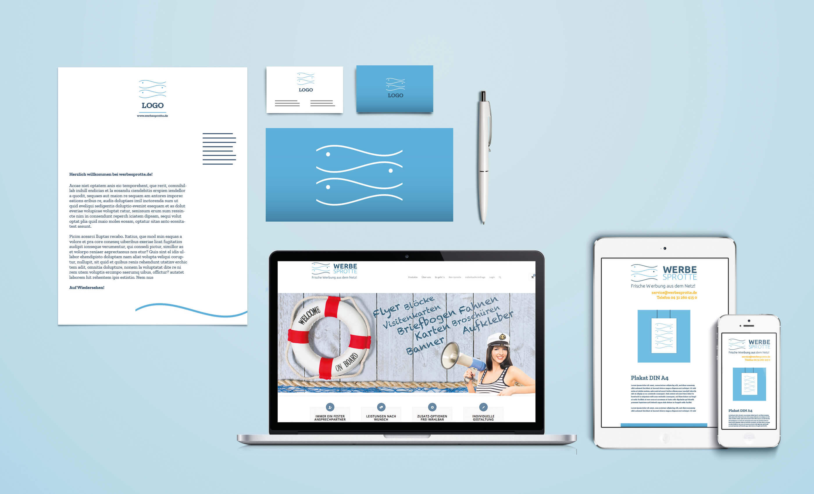 corporate design werbesprotte branding identity